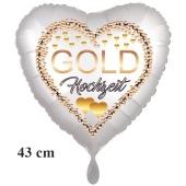 Folienballon ohne Helium: Gold Hochzeit