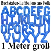 Große Buchstaben-Luftballons aus Folie in Blau