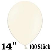 """Große Luftballons, elfenbein, Größe 14"""", 100 Stück"""