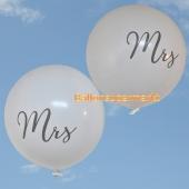 Große Rund-Luftballons, Weiß, 1 Meter, zur Hochzeit von Mrs. und Mrs.