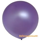 Großer Rund-Luftballon, Metallic Lavendel, 1 Meter