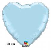 Großer Herzluftballon, 90 cm, hellblau