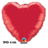 Großer Herzluftballon, 90 cm, rot
