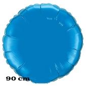 Luftballon aus Folie, Rundballon, Blau, 90 cm