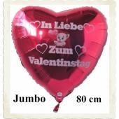 Großer Herzluftballon mit Helium: In liebe zum Valentinstag