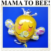 Großer luftballon aus Folie, Mama to bee! Ballon zur Geburt mit Ballongas Helium