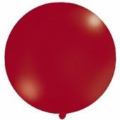 Großer Rund-Luftballon, Metallic Dunkelrot, 1 Meter
