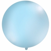 Großer Rund-Luftballon, Pastell Himmelblau, 1 Meter