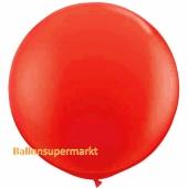 Großer Rund-Luftballon, Pastell Rot, 1 Meter