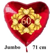 Großer roter Herzluftballon aus Folie: 60 Diamanthochzeit