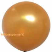 Großer Rund-Luftballon, Gold, Metallic, 1 Meter