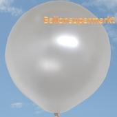Großer Rund-Luftballon, Perlweiß, Metallic, 1 Meter