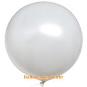 Großer Rund-Luftballon, Weiß, 100 cm