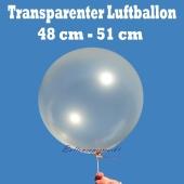 Großer transparenter Luftballon, 48-51 cm