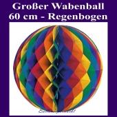 Großer Wabenball, Regenbogen, 60 cm