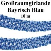 Großraumgirlande Bayrisch Blau, 10 Meter