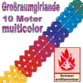 Großraumgirlande Regenbogenfarben 10 Meter