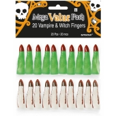 Halloween Grusel-Finger, Vampir und Hexe