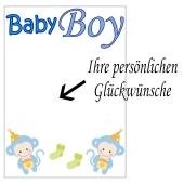 Grusskarte, Baby Boy zu Taufe, Babyparty und Geburt