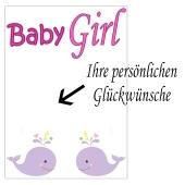Grusskarte, Baby Girl zu Taufe, Babyparty und Geburt