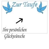 Grusskarte, blaue Tauben zur Taufe