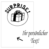 Grusskarte, Surprise Geschenk zum Geburtstag