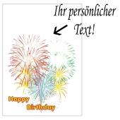 Grusskarte, Happy Birthday Feuerwerk zum Geburtstag