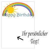 Grusskarte, Happy Birthday Regenbogen zum Geburtstag