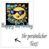 Grusskarte, Happy Birthday Sonne zum Geburtstag