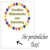 Grusskarte, Herzliche Glückwünsche zum Geburtstag Luftballons zum Geburtstag