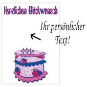 Grusskarte, Herzlichen Glückwunsch Geburtstagskuchen zum Geburtstag