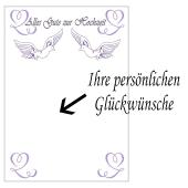 Grußkarte Alles Gute zur Hochzeit mit Tauben zur Hochzeit