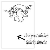 Grußkarte Cupido, Liebesbotschaft