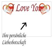 Grußkarte I love You Amoren, Liebesbotschaft