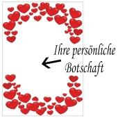 Grußkarte Love Hearts, Liebesbotschaft