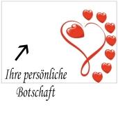 Grußkarte Lovely Hearts, Liebesbotschaft