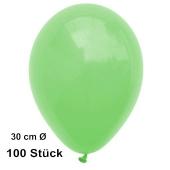 Luftballon Mintgrün, Pastell, gute Qualität, 100 Stück