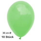 Luftballons Mintgrün, 28-30 cm, 10 Stück, preiswert und günstig