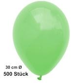 Luftballon Mintgrün, Pastell, gute Qualität, 500 Stück