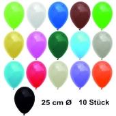 Luftballons Bunt gemischt, 25 cm, 10 Stück, preiswert und günstig