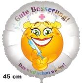 Gute Besserung! Ballon aus Folie. Das wird schon wieder! 45 cm, ohne Helium