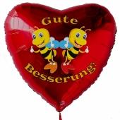 Gute Besserung, Luftballon aus Folie mit Ballongas, Bienen - Thumps up
