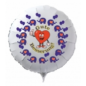 Gute Besserung, Luftballon aus Folie mit Ballongas, mit Elefanten und Herz (Daumen hoch) für Kinder
