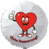 Gute Besserung, Luftballon aus Folie mit Ballongas, Heart - Thumps up