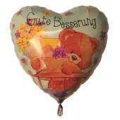 Gute Besserung Luftballon aus Folie, Simon Elvin Bärchen, Ballon mit Helium