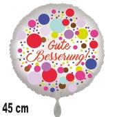 Gute Besserung! Ballon aus Folie, Colored Dots 45 cm, ohne Helium