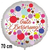 Gute Besserung! Ballon aus Folie, Colored Dots 70 cm, ohne Helium