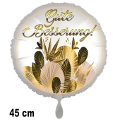 Gute Besserung! Ballon aus Folie. Golden Leaves. 45 cm, ohne Helium