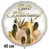 Gute Besserung! Luftballon, golden leaves, aus Folie, 45 cm, mit Ballongas