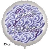 Gute Besserung! Ballon aus Folie. Spirals. 45 cm, ohne Helium
